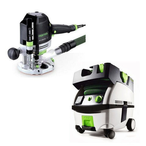 Festool PM574342 Plunge Router with CT MINI 2.6 Gallon Mobile Dust Extractor