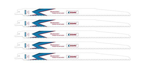 EZARC R1222DH 12-Inch 6TPI Wood Demolition Reciprocating Saw Blade (5-Pack)