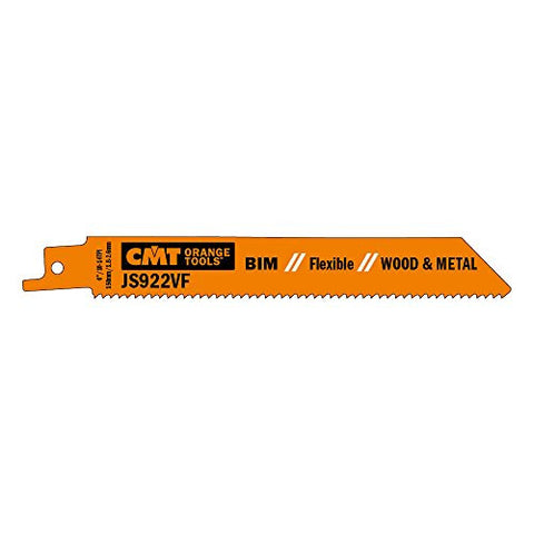 CMT USA, Inc. JS922VF-5 CMT 10-14 TPI Bimetal Reciprocating Saw Blades for Wood/Metal (5 Pack), 5""
