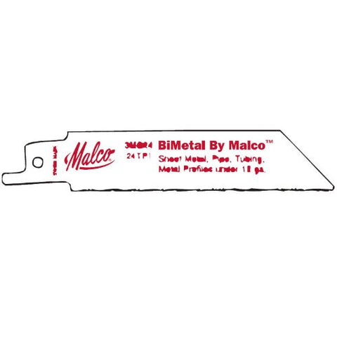 Malco 3MC24 High Speed Straight Profile Metal Cutting Bimetal Reciprocating Saw Blade, 5-Pack