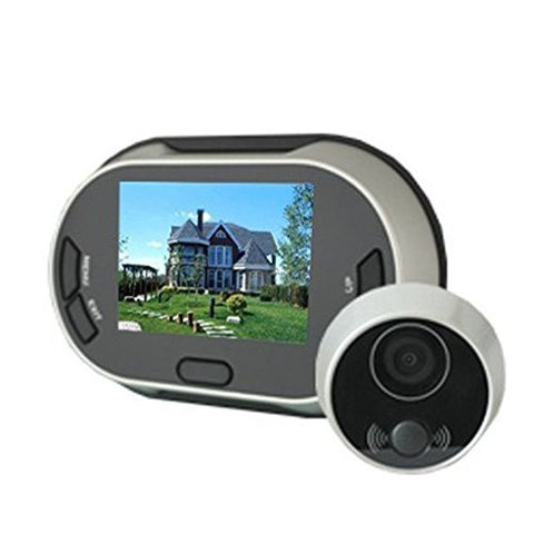 "3.5"" LCD Monitor 170 Degree Digital Door View Peephole Viewer Doorbell Camera"