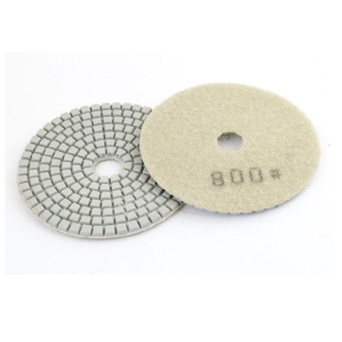 2 Pcs 800 Grit Beige Round Diamond Polishing Pads for Concrete Granite