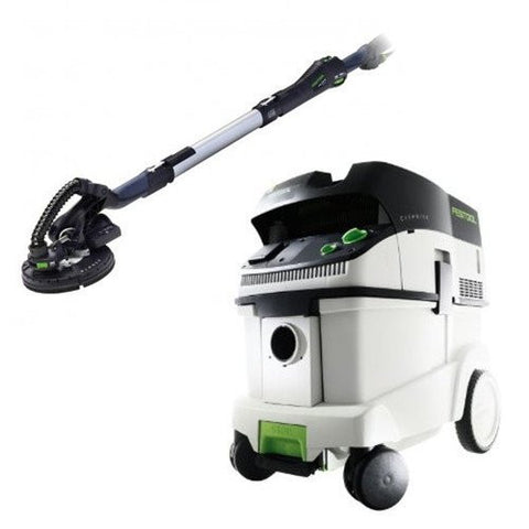 Festool P36571579 Planex Drywall Sander with CT 36 E 9.5 Gallon HEPA Dust Extractor