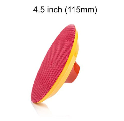 4.5 inch (115mm) Hook and Loop Backing Pad, with 5/8''-11 thread , Medium desnity 20mm Nylon Layer Sanding Pad, Polishing Pad