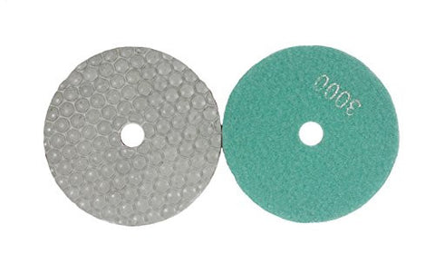 Shine Peak 7 pcs diamond polishing pad 4inch 100mm polishing tools (4inch Dry Use)