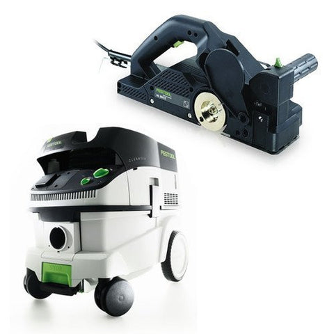 Festool P26574553 HL 850 E Planer + CT 26 Dust Extractor