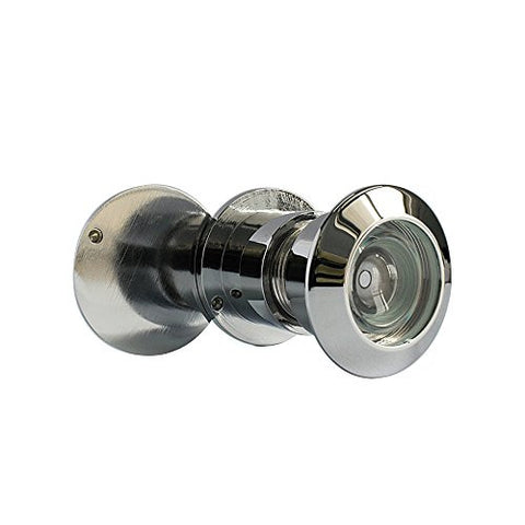 "220-degree Brass Door Viewer with Heavy Duty Privacy Cover for 1-3/10"" to 2-3/10"" Doors, Drilling Hole diameter 4/5"", Chrome"