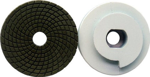 "4"" Diamond Snail Lock Polishing Pad Grit 800 for Granite / Marble / Concrete"