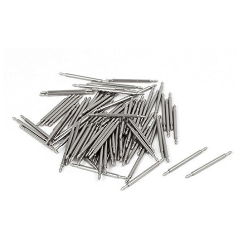 uxcell Stainless Steel Double Flanged End Spring Bar Pin 100pcs for 20mm Watch Band