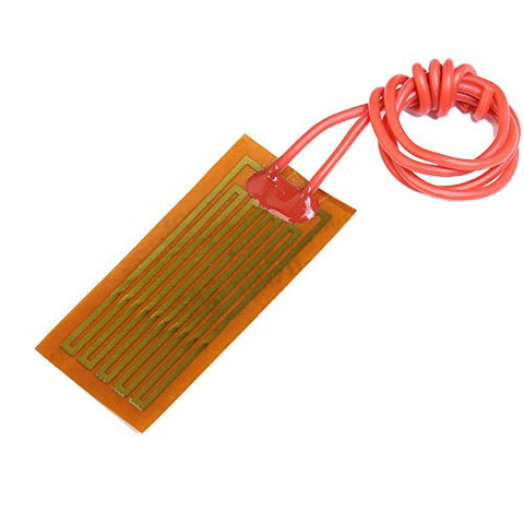 Icstation 12V 7W Flexible Polyimide Heater Plate Adhesive PI Heating Film 25mmx50mm