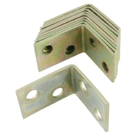 10 pcs 25x25x16mm 90 degree metal right angle bracket shelf support