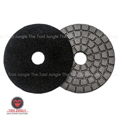 Tiburon Standard SV Diamond Polishing Pads 4 inch Black Buff