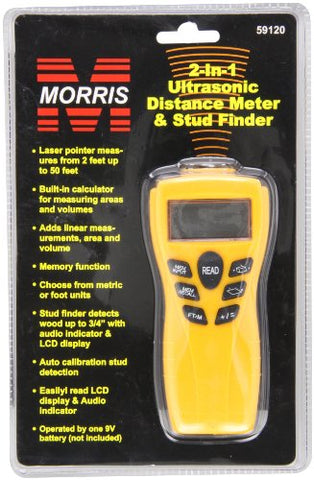 Morris Products 59120 Ultrasonic Distance Meter and Wood Stud Finder