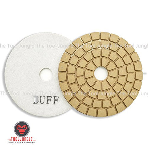 Tiburon Standard SV Diamond Polishing Pads 4 inch White buff