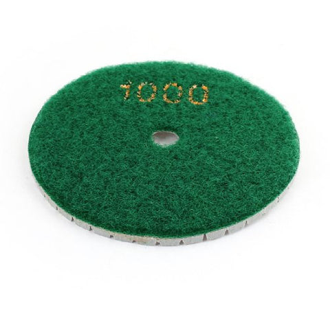Uxcell 80mm Dia 1000 Grit Circle Tile Stone Diamond Polishing Pad, Green Gray