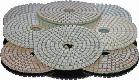 "STADEA 5"" Diamond Polishing Pads Grit 50 Wet for Granite Concrete Stone Polishing"