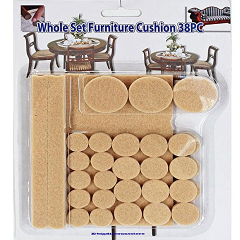 (Ship from USA) Whole Set Cushion Furniture Scratch Floor Protector Pads Self-Adhesive 38 pc .PACKNO-5R27G2-1C82HY2951