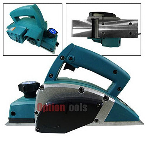 "3-1/4"" Powerful Electric Wood Planer Hand Held Door Plane Woodworking Power Surface Wood Shaving Tool"