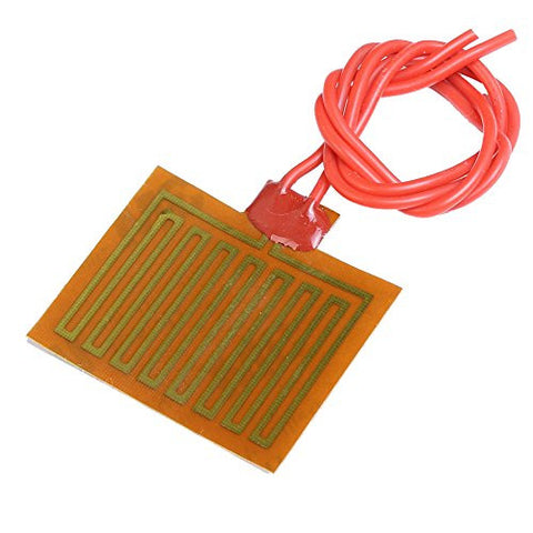 Icstation 5V 1W Flexible Polyimide Heater Plate Adhesive PI Heating Film 30mmx40mm