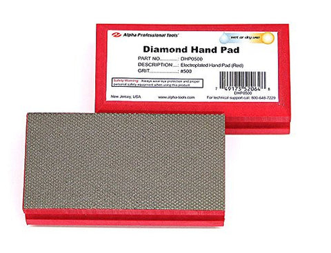 Alpha Diamond Hand Polishing Pad - (1) 500 Grit Pad