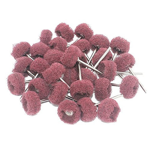 NIUPIKA 30 Pcs 3mm Abrasive Buffs Polishing Buffing Wheel for Dremel Rotary Tool Grinding Accessories