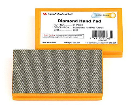 Alpha Diamond Hand Polishing Pad - (1) 300 Grit Pad