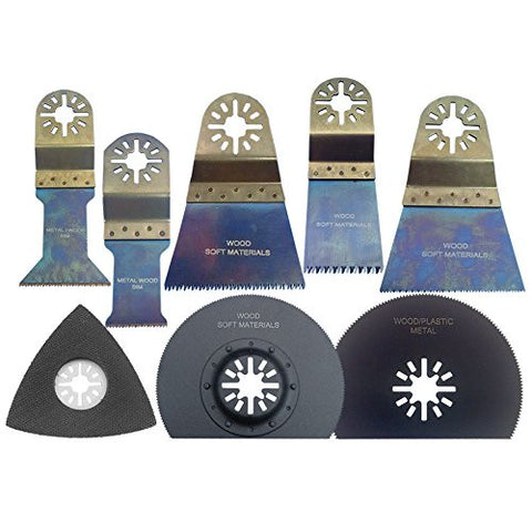 Zenith Industries ZN180061 Woodworking OSaw Blade Set, 8 Piece