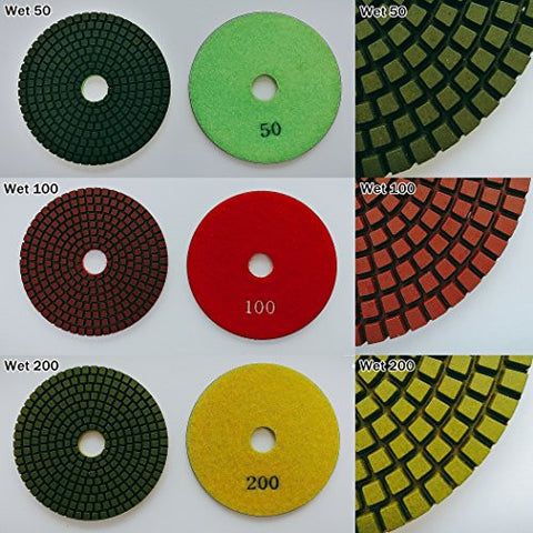 "Best Cost efficiency 4"" inch Professional Diamond Wet Polishing Pads Set (Grits : 400)"