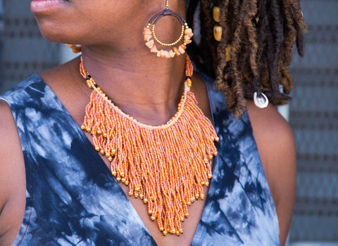 """Just peachy""Ghana  Necklace"