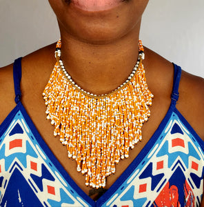 W. African beaded necklace
