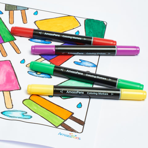 Twin Tip Coloring Markers – amazapens