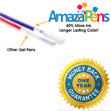 24 Pack Assorted Gel Pens - 40% More Ink