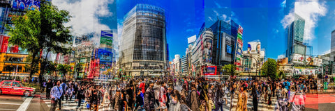 Shibuya Crossings Pano