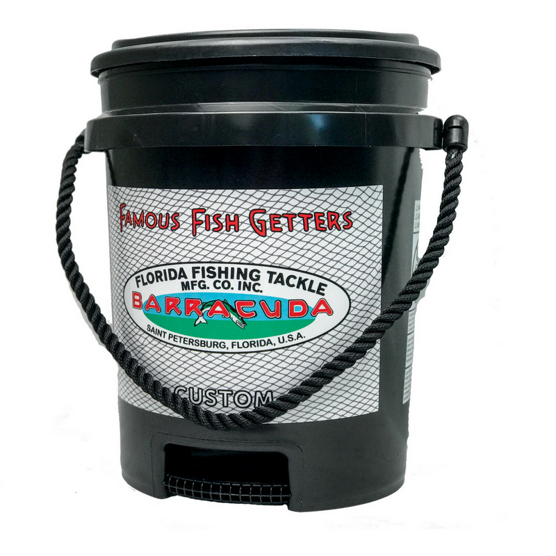Black Swivel Seat Lid on Barracuda Cast Net Bucket
