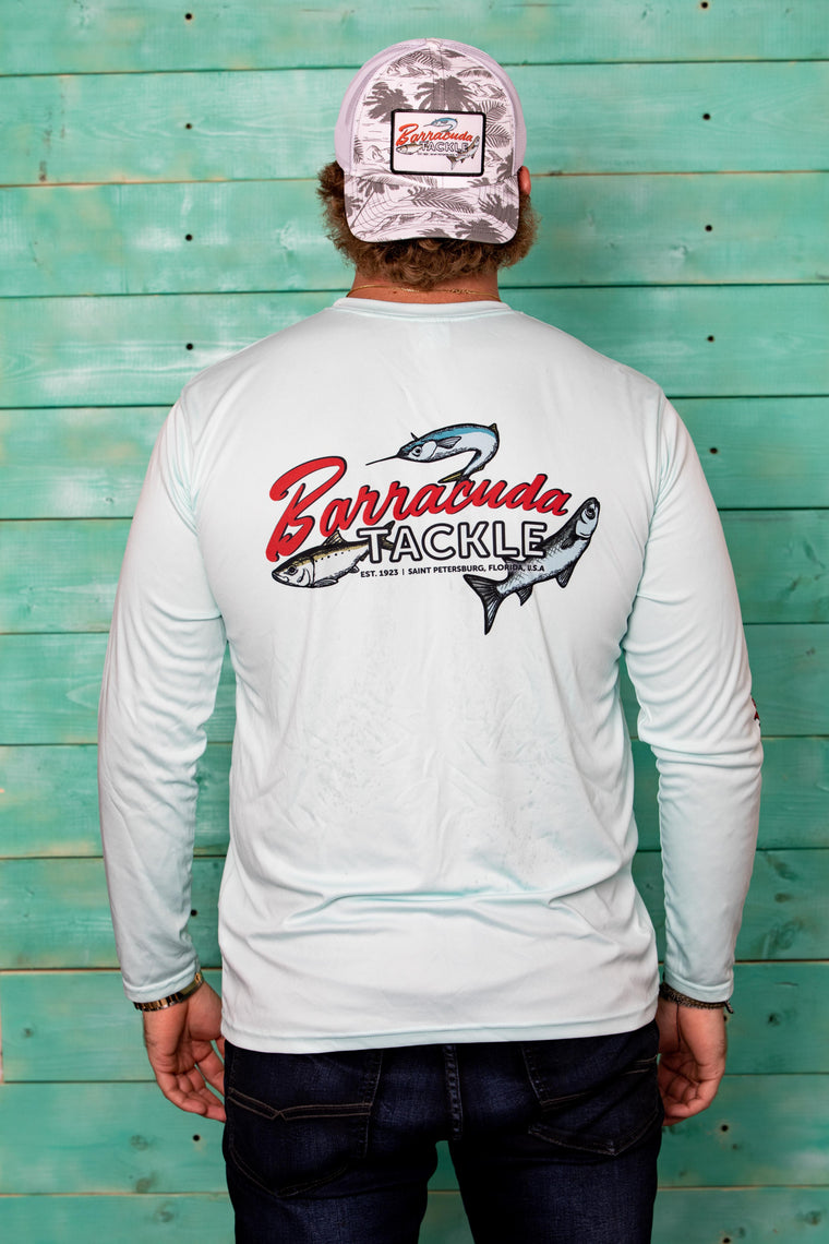 Barracuda Mens Triple Fish UV Performance L/S Shirt