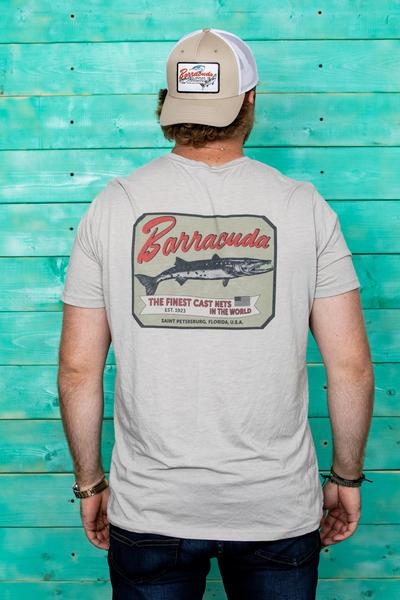 Barracuda Mens Vintage Short Sleeve Cotton T-Shirt