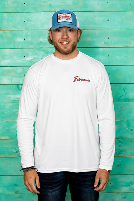 Barracuda Vintage Mens UV Performance L/S Shirt | Barracuda Tackle | Florida Fishing Tackle MFG. CO.