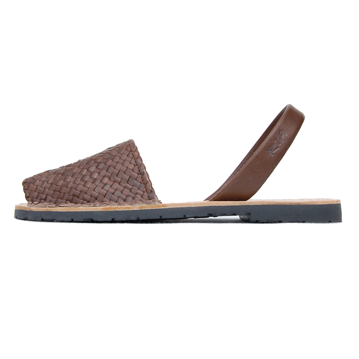 ria menorca flats avarcas chocolate brown braided
