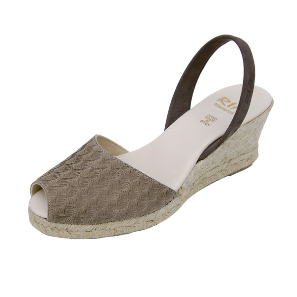 Avarcas Wedge Espadrilles Mira in Brown
