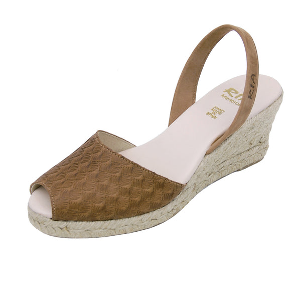Avarcas Wedge Espadrilles Mira in Tan
