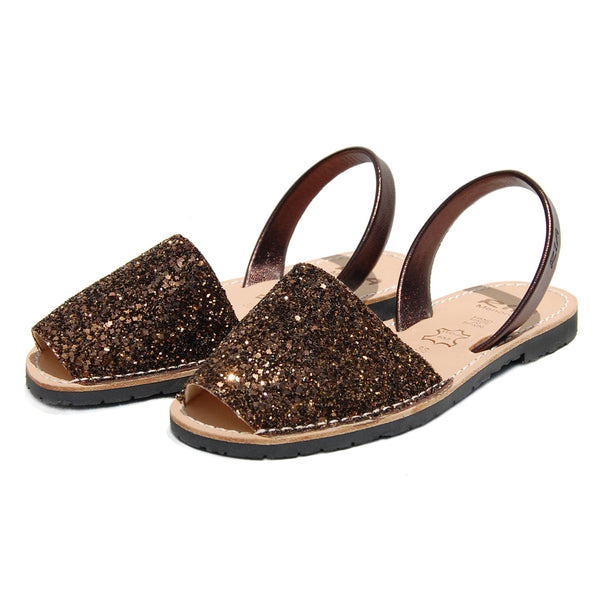 Avarcas Glitter Menorcan Sandals Joan in Bronze