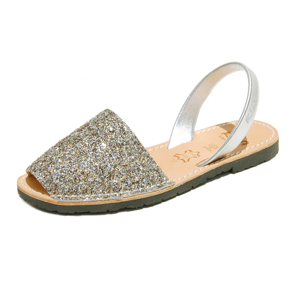 Avarcas Glitter Menorcan Sandals Joan in Pewter