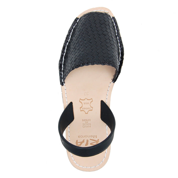 Avarcas Menorcan Sandals Fornells in Black