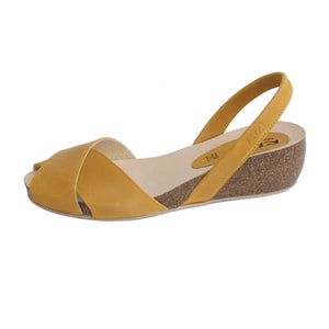 Cruz Cork Wedge in Mustard