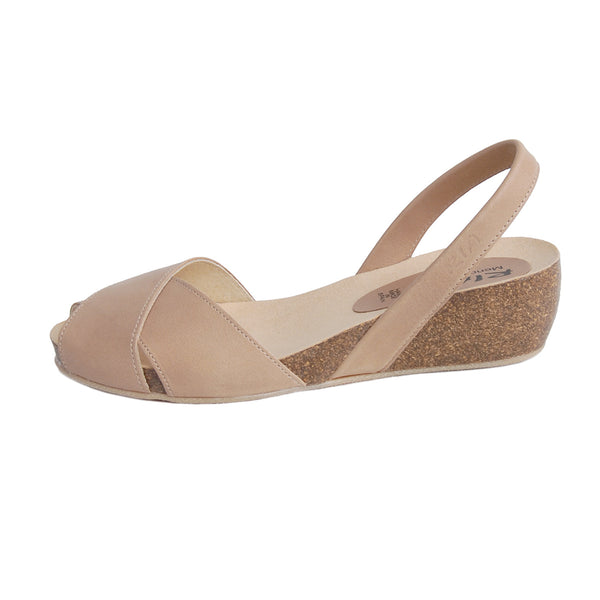 Cruz Cork Wedge in Beige