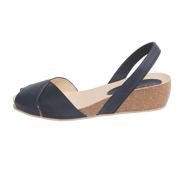 Cruz Cork Wedge in Navy