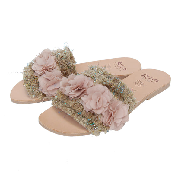 Lola Spanish Slides in dusty rose