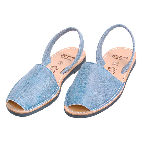 Avarcas Menorcan Sandals Fonti in Denim Look