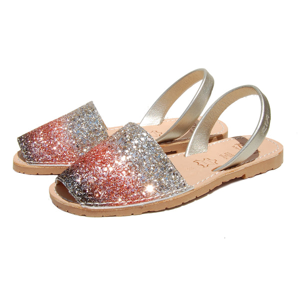 Avarcas Glitter Menorcan Sandals Joan in Galaxy