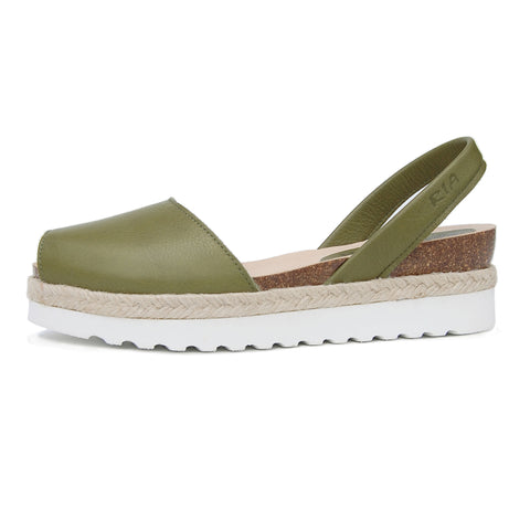 Cala Avarcas Menorcan Sandals in Olive